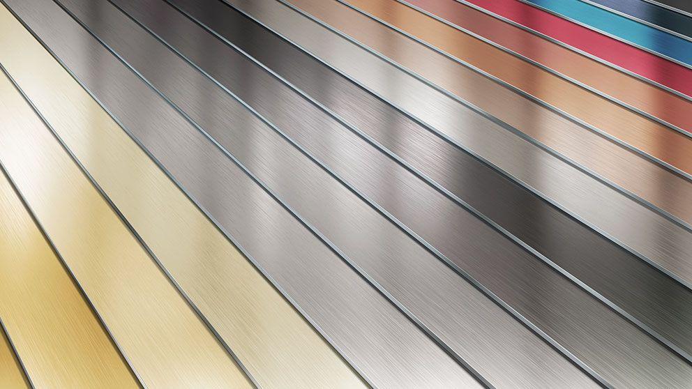 Farbig anodisierte Oberflächen